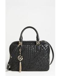 Versace Versace Linea Leather Satchel - Lyst