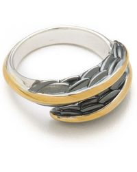Elizabeth And James Feather Ring - Lyst
