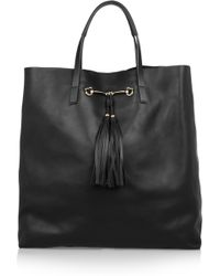 Gucci   Horse Bitdetailed Leather Tote   Lyst
