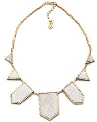 House of Harlow 1960 - Engraved Five Station Necklace - Lyst