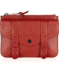 Proenza Schouler Ps1 Medium Textured leather Pouch - Lyst
