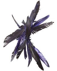 Ann Demeulemeester Feather Hair Accessories - Purple