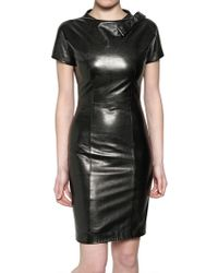 DSquared² Nappa Leather Dress - Lyst