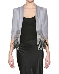 Gaowei+Xinzhan - Neoprene with Ostrich Feather Jacket - Lyst