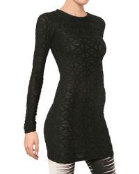 Gareth Pugh Geometric Print Viscose Jersey Dress - Lyst