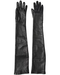 Givenchy Nappa Leather Long Gloves - Black