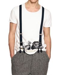 Iceberg - Suspenders with Leather Details - Lyst