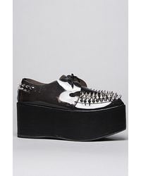 Jeffrey Campbell The Spiked Stinger Shoe in Black and Clear - Lyst