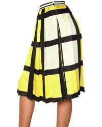 Marni Checked Silk Twill Skirt - Lyst