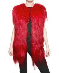 MSGM Kidassia Fur Vest - Lyst