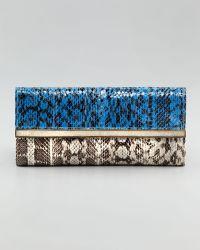 R & Y Augousti | Bar Flap Snakeskin Clutch | Lyst