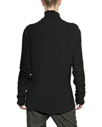 Silent - Damir Doma Ribbed Wool Knit Oversized Sweater - Lyst