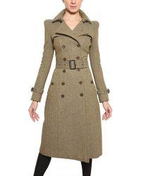 Burberry Prorsum Herringbone Tweed Coat - Lyst