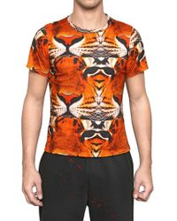 Dead Meat - Tiger Face Printed Jersey Tshirt - Lyst