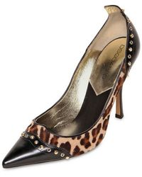 DSquared² 110mm Ponyskin Studded Leather Pumps - Lyst