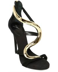 Giuseppe Zanotti 110mm Suede Wave Sandals - Lyst