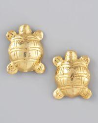 Rosena Sammi - Turtle Stud Earrings - Lyst