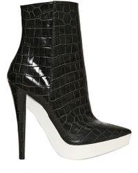 Stella McCartney 140mm Croco Print Pointy Boots - Lyst