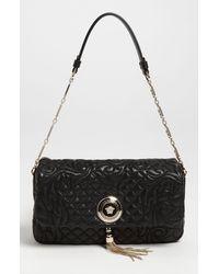 Versace Versace Linea Leather Shoulder Bag - Lyst