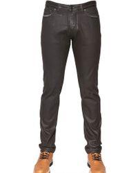 Viktor & Rolf - Leather Effect Denim Slim Fit Jeans - Lyst