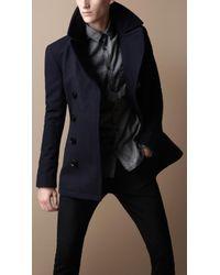 Burberry Brit Wool Blend Pea Coat - Lyst