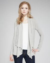 James Perse Draped Knit Cardigan - Lyst