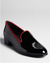 Stuart Weitzman Smoking Flats Slip On Shoes - Lyst