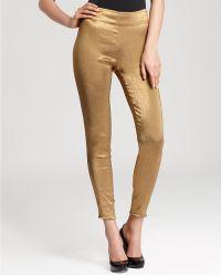 Donna Karan New York Slim Pants Side Zip - Lyst