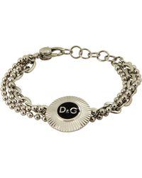D&G Silver Bracelet - Lyst