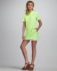 Diane von Furstenberg Warner Lace Dress green - Lyst