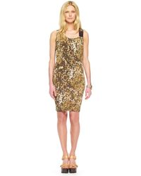 MICHAEL Michael Kors Printed Dress - Lyst