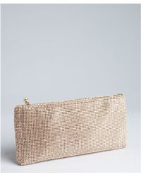 Christian Louboutin  Crystal Embellished Leather Clutch - Lyst