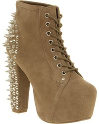 Jeffrey Campbell Lita Platform Ankle Boot Spike Taupe - Lyst
