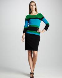 Misook Colorblock Dress - Lyst