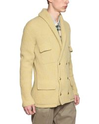 Andrea Pompilio - Ribbed Knit Wool Cardigan - Lyst