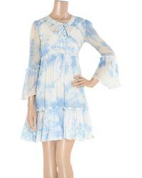 Leaves Of Grass - Arabesque Tie-dye Silk-georgette Dress - Lyst