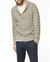 Zara Plaited Twister Yarn Sweater - Lyst