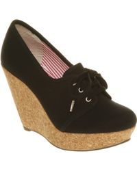 Office West End Wedge Black Canvas - Lyst