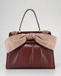 Valentino Aphrodite Contrast Bow Bag  - Lyst