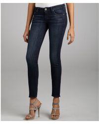 William Rast Dark Blue Stretch Denim Kara Skinny Jeans - Lyst