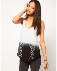ASOS Collection Asos Vest with Embellished Woven Front - Lyst
