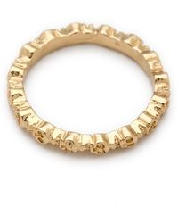 Bing Bang Eternity Skull Ring - Metallic