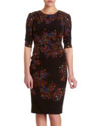 Erdem Half Sleeve Floral Dress - Lyst