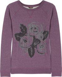 Mulberry Roseprint Cottonjersey Sweatshirt - Purple