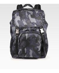 Prada Zaino Camo Backpack - Lyst