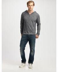 Vince Hooded Henley - Lyst
