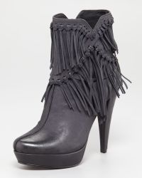 7 For All Mankind Mirage Fringe Ankle Boot - Lyst