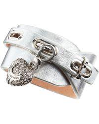 Juicy Couture Leather Wrap Charm Bracelet - Metallic