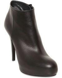 Stuart Weitzman 110mm Leather Low Boots - Lyst