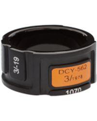 DIESEL - Black IP Ring - Lyst